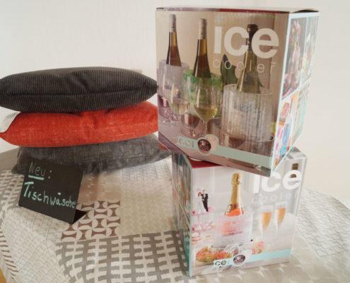 Ice-Cooler - Ihre persönliche Eisdekorationen. Ganz einfach im eigenen Froster. Ob solo, farbig oder mit Schmuck aus Blüten, Früchten, Muscheln ...