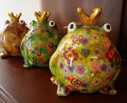 Frosch-Spardose Pomme-Pidou