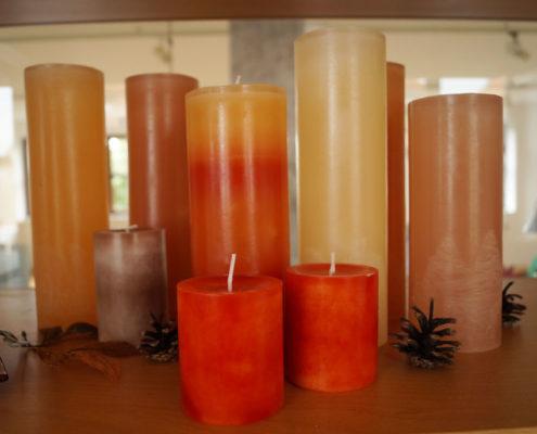 Kerzen, handgefertigt für eine warme und gemütliche Wohnatmosphäre